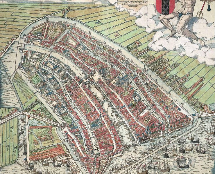 Map of Amsterdam 1544